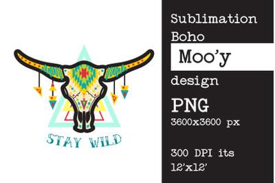 Sublimation design Bull | cow skull