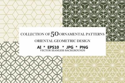 50 ornamental seamless patterns