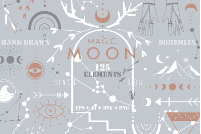 MAGIC MOON VECTOR SET