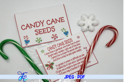 Candy Cane Seeds Label