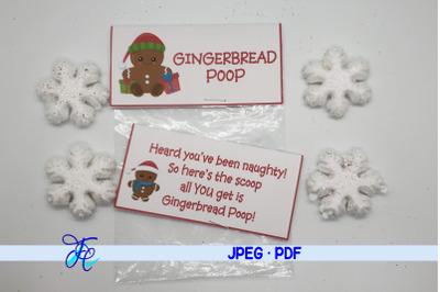 Gingerbread Poop Label!