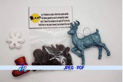 Reindeer Poop Label