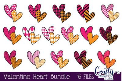 Valentine's Day SVG, Heart, Patterned Hearts, Buffalo Plaid