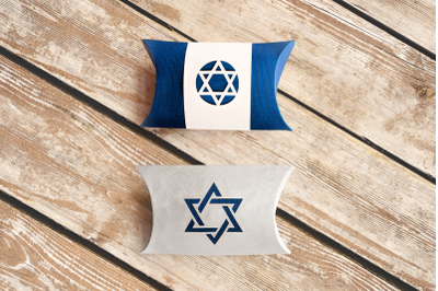 Star of David Pillow Box | SVG | PNG | DXF | EPS