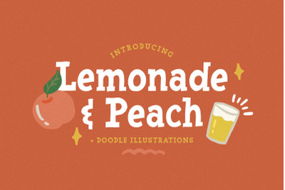 Lemonade and Peach - Display Font
