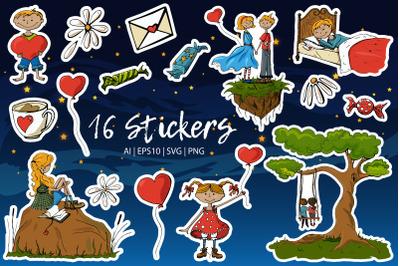 St. Valentine's Stickers