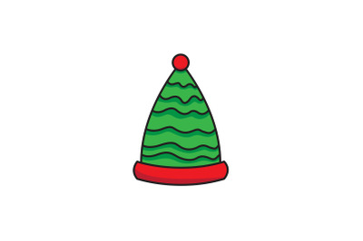 Melted Pattern Dwarf Hat Christmas Icon