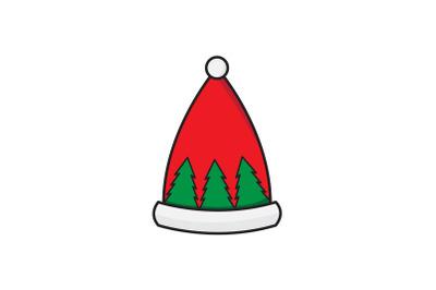 Tree Pattern Hat Christmas Icon