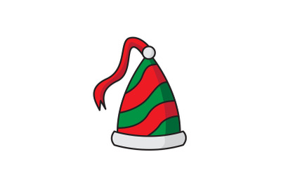 Hat With A Ribbon Tail Christmas Icon
