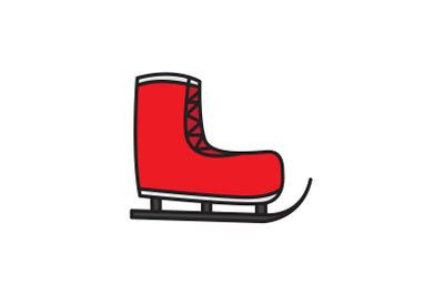 Ski Shoes Christmas Icon