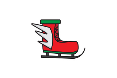Ski Shoes With Wings Christmas Icon