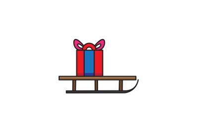Gift Sled Christmas Icon