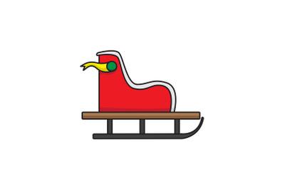 Santa Sled Christmas Icon