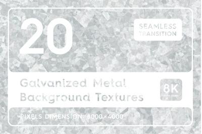 20 Galvanized Metal Background Textures