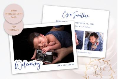 Birth Announcement Card Template #11