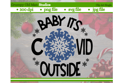 baby its COVID-19 outside cut file