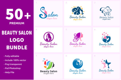 50+ Beauty Salon Logo Bundle