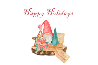 Christmas gnomes png, Winter decor