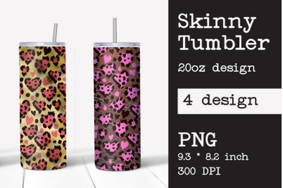 Skinny tumbler sublimation Heart template