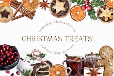 Christmas Treats Watercolor Collection