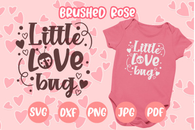 Little love bug Valentine's Day SVG