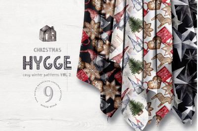 Hygge Digital Paper Pack Watercolor Christmas Festive