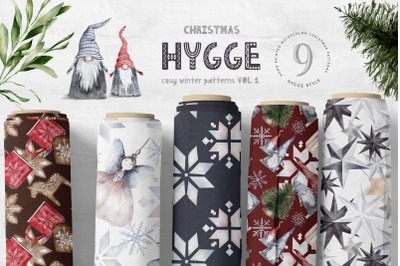 Hygge Christmas Digital Paper Pack Festive Design Pattern