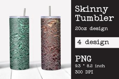 Skinny tumbler sublimation foil crush template