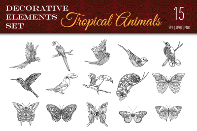 Tropical Animals Set
