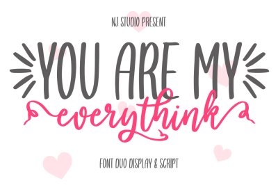 you are my everythink font duo