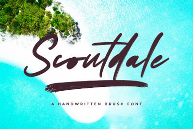 Scoutdale | Handwritten Brush Font