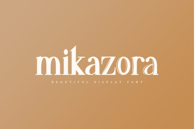 mikazora || Beautiful Display Font