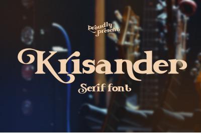 Krisander || Modern Serif Font