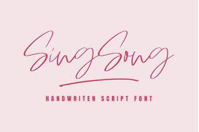 Sing Song | Handwritten Script Font