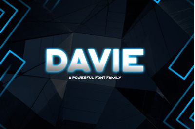 Davie || Powerful Font Family