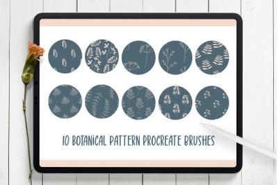 Botanical Seamless Pattern Procreate Brushes