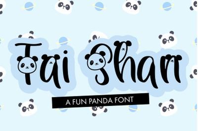 Tai Shan - Handwritten Panda Font