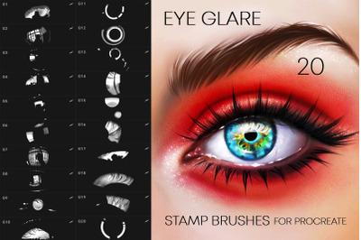 20 Eye Glare Brushes Procreate