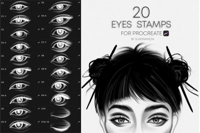 Realistic Eyes Stamps for Procreate