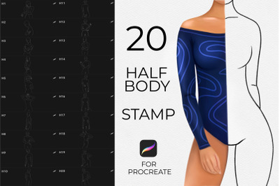 Realistic Body Pose Stamps Procreate