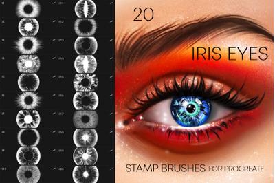 20 Iris Eyes Brushes Procreate