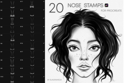 Realistic Nose Stamps for Procreate