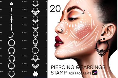 Procreate Piercing & Earrings Stamp