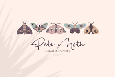 Pale Moth/Clipart&Patterns