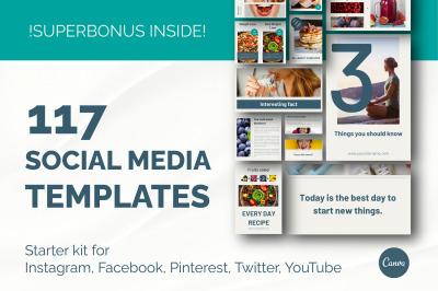 Canva Social media templates starter kit.