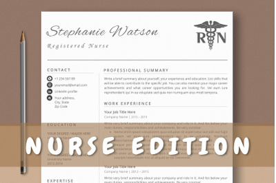 Nurse Resume Template Word & Pages