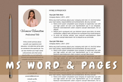 Creative Pastel Resume Template for Ms Word & Mac Pages