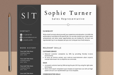 Functional Resume Template Word & Pages
