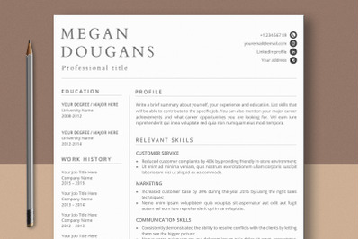 Skills-based Resume Template Mac Pages & Word