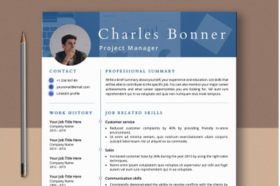 Skills-based Resume Template with Photo Word & Pages